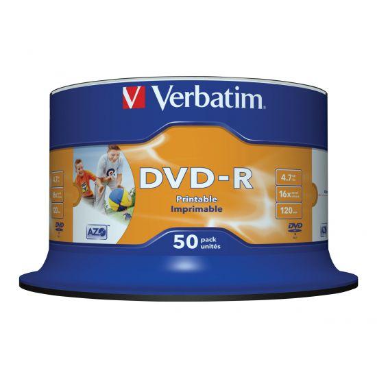 Verbatim - DVD-R x 50stk - 4.7 GB - lagringsmedie