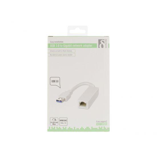 DELTACO USB 3.0 netværksadapter RJ45