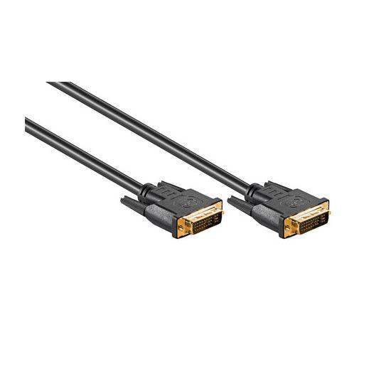DELTACO DVI-I (DUAL LINK) kabel 2 m Sort