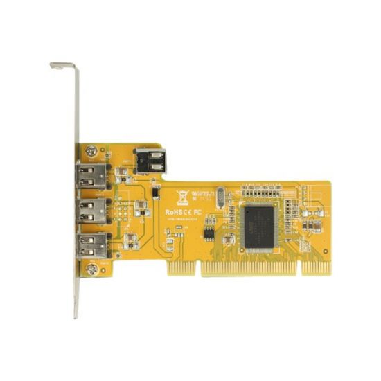 DeLock PCI Card > 3 x external + 1 x internal FireWire A - FireWire adapter