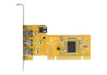 DeLock PCI Card > 3 x external + 1 x internal FireWire A