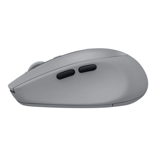 Logitech M590 Silent - mus - Bluetooth, 2.4 GHz - midt grå tonal