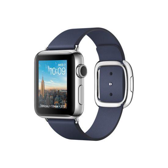 Apple Watch Series 2 - rustfrit stål - smart ur med moderne spænde - midnatsblå