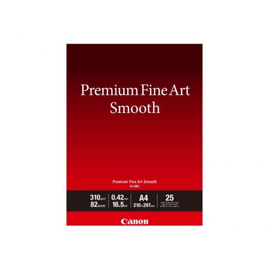 Canon Premium Fine Art Smooth FA-SM1 - fotopapir - 25 ark - A4 - 310 g/m²