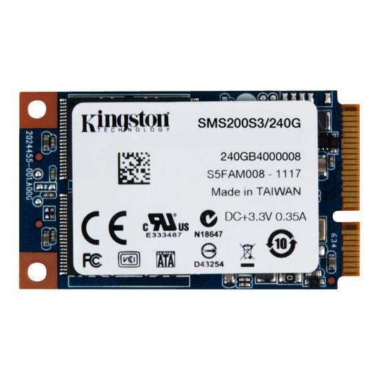Kingston SSDNow mS200 &#45 240GB - SATA 6 Gb/s - 52 pin mini-SATA