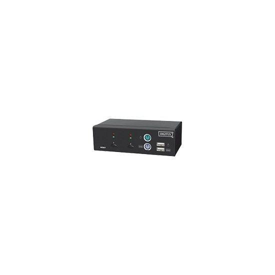 DIGITUS Combo-KVM Switch DC-11202-1 - KVM switch - 2 porte
