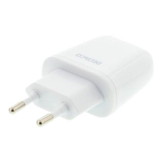 Deltaco USB-AC56 strømforsyningsadapter Hvid