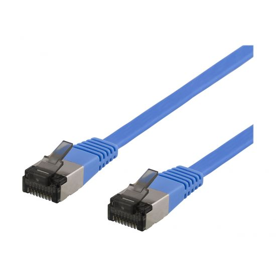 DELTACO patchkabel - 30 cm - blå