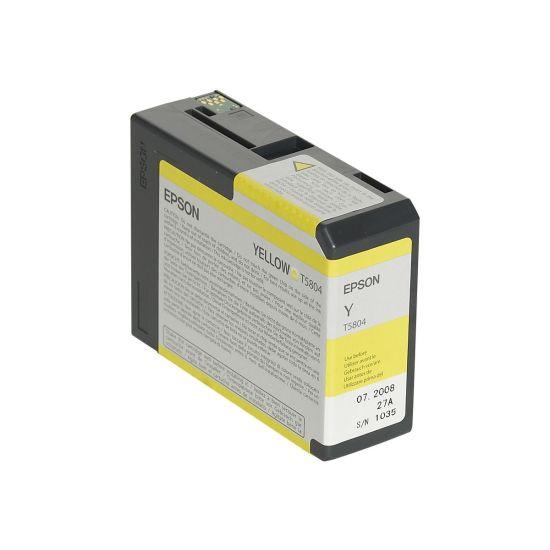 Epson T5804 - gul - original - blækpatron