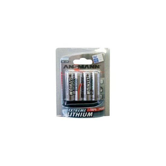 ANSMANN Mignon Extreme Lithium - batteri - AA type - Li x 4
