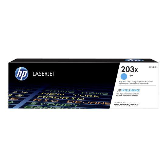 HP 203X - Højtydende - cyan - original - LaserJet - tonerpatron (CF541X)