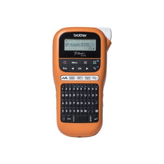 Brother P-Touch PT-E110VP - etikettemaskine - monokrom - termo transfer