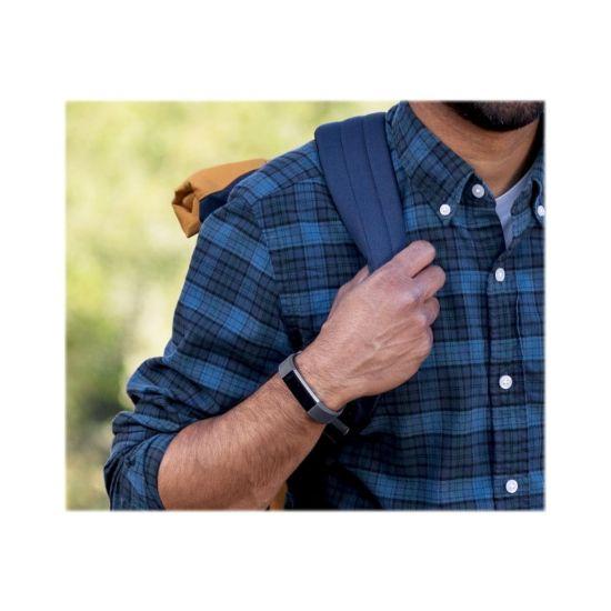 Fitbit Alta HR - rustfrit stål - aktivitetssporer med bånd - blågrå