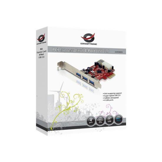 Conceptronic C4USB3EXI - USB-adapter - 4 porte