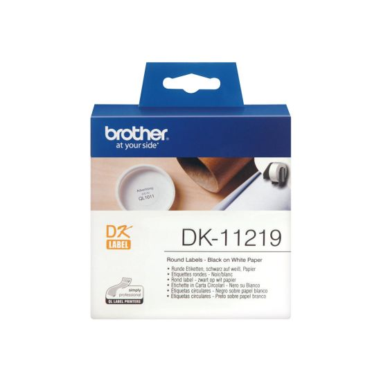 Brother DK-11219 - etiketter - 1200 stk. - Rulle (1,2 cm)