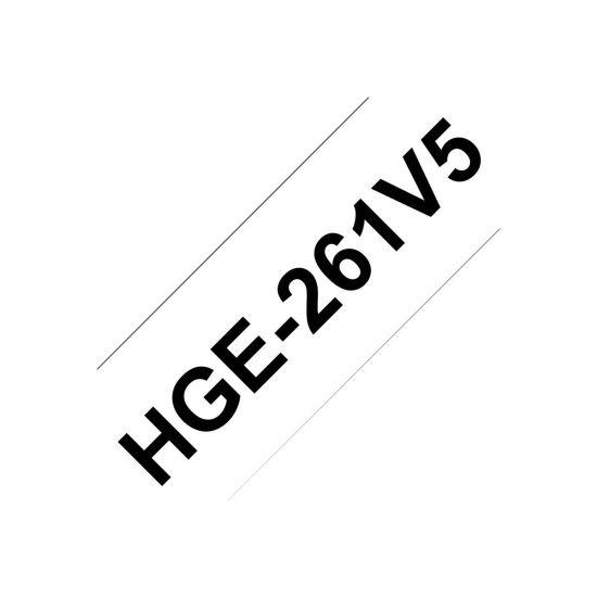 Brother HGE261V5 - lamineret bånd - 5 rulle(r) - Rulle (3,6 cm x 8 m)