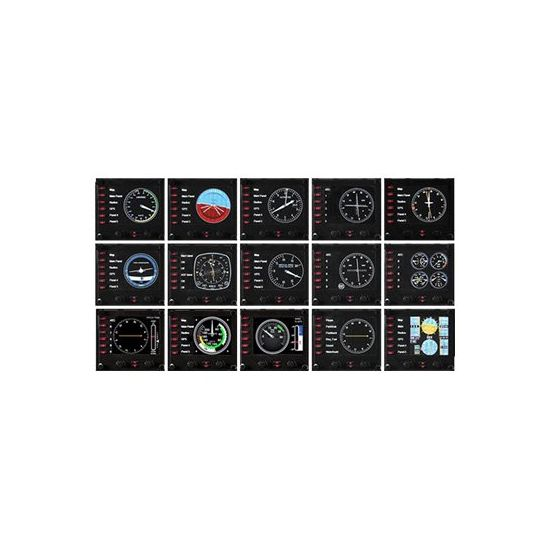 Saitek Pro Flight Instrument Panel - instrumentpanel til flysimulator - kabling