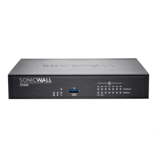 SonicWall TZ400 - sikkerhedsudstyr - med 1 års TotalSecure