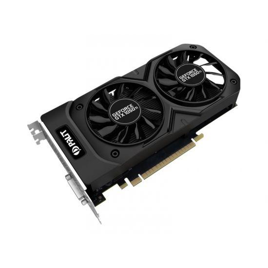 Palit GeForce GTX 1050 Ti Dual OC &#45 NVIDIA GTX1050Ti &#45 4GB GDDR5 - PCI Express 3.0 x16