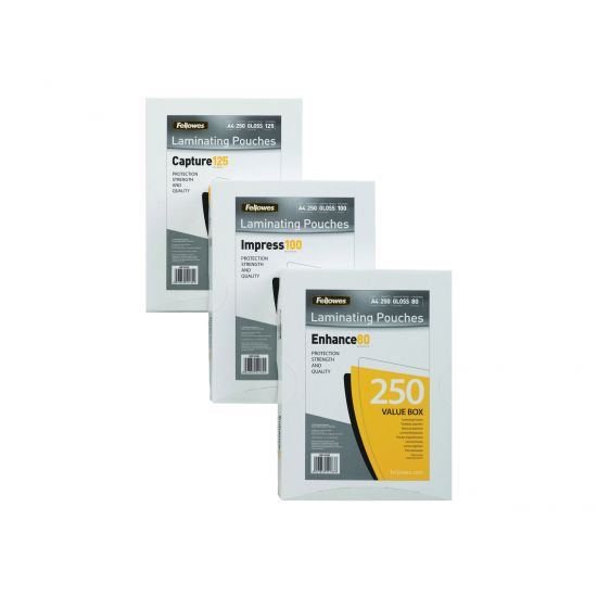 Fellowes Laminating Pouches Enhance 80 micron - 100-pakke - blank - A5 - laminerings poser