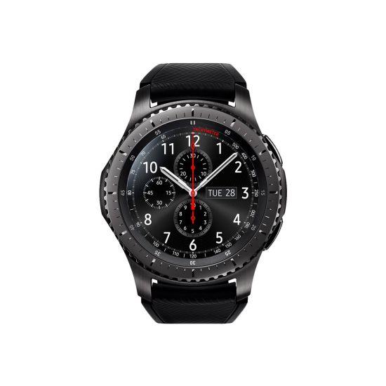 Samsung Gear S3 Frontier - sort - smart ur med bånd - sort - 4 GB