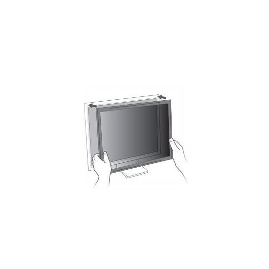 """3M indrammet databeskyttelsesfilter til 27"""" widescreen-skærm - privacy-filter for skærm - 27"""" bred"""
