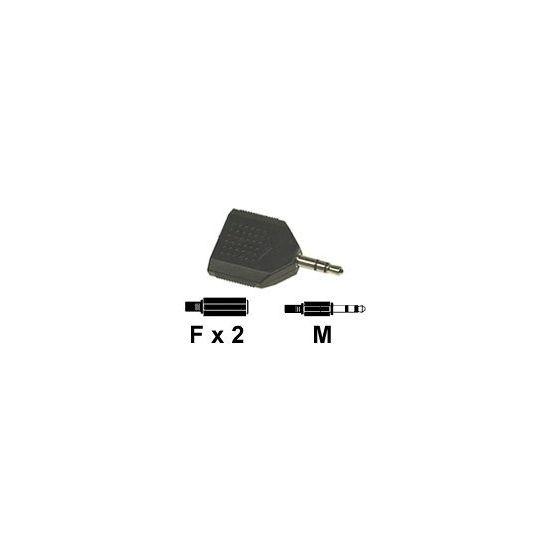 DELTACO lydsplitter 3,5mm jack til 2X 3,5mm jack