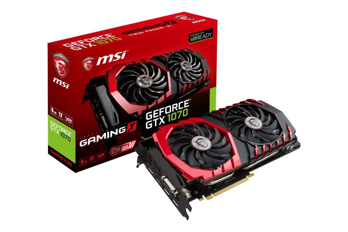 MSI GTX 1070 GAMING X 8G &#45 NVIDIA GTX1070 &#45 8GB GDDR5