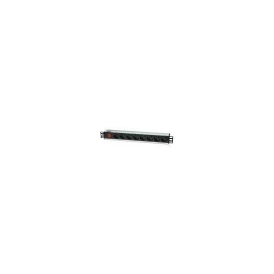 """Intellinet 19"""" Rackmount 8-Way Power Strip - German Type - stikdåse"""