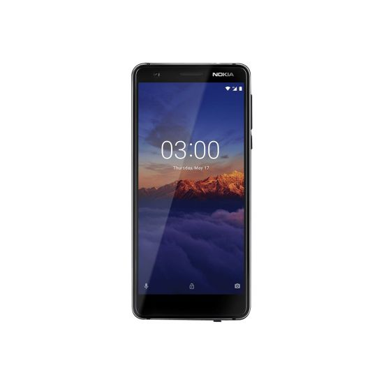 Nokia 3.1 - Android One - sort/krom - 4G LTE - 16 GB - GSM - smartphone