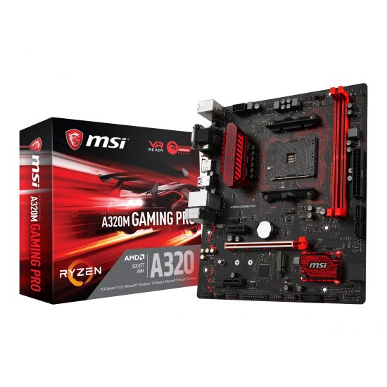 MSI A320M GAMING PRO - bundkort - micro-ATX - Socket AM4 - AMD A320