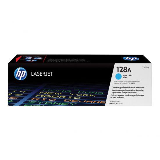 HP 128A - cyan - original - LaserJet - tonerpatron (CE321A)