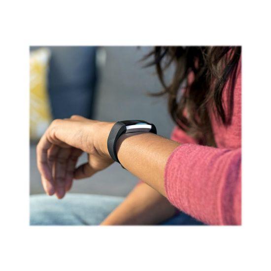 Fitbit Alta HR - rustfrit stål - aktivitetssporer med bånd sort