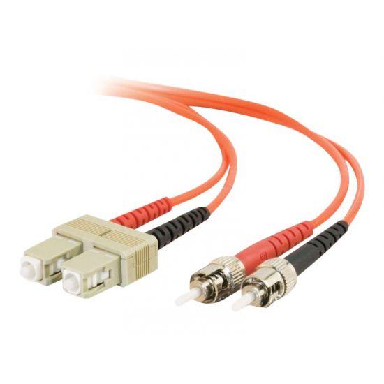 C2G ST-ST 50/125 OM2 Duplex Multimode PVC Fiber Optic Cable (LSZH) - patchkabel - 1 m. - orange