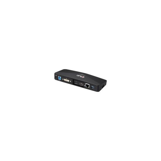 Club3D SenseVision USB 3.0 4K Docking Station - dockingstation - DVI, HDMI, DP
