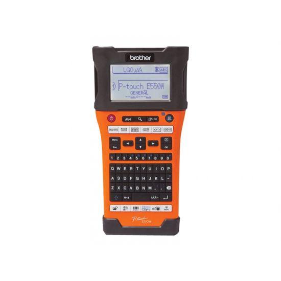 Brother P-Touch PT-E550WVP - etikettemaskine - monokrom - termo transfer