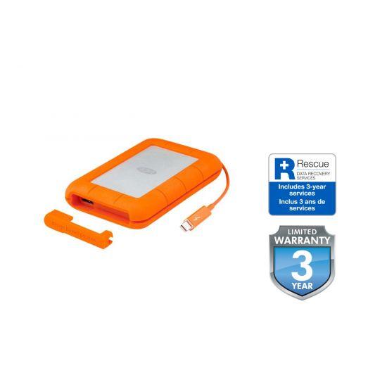 LaCie Rugged Thunderbolt USB-C &#45 4TB - USB 3.1 Gen 1 / Thunderbolt 3 - 24 pin USB-C