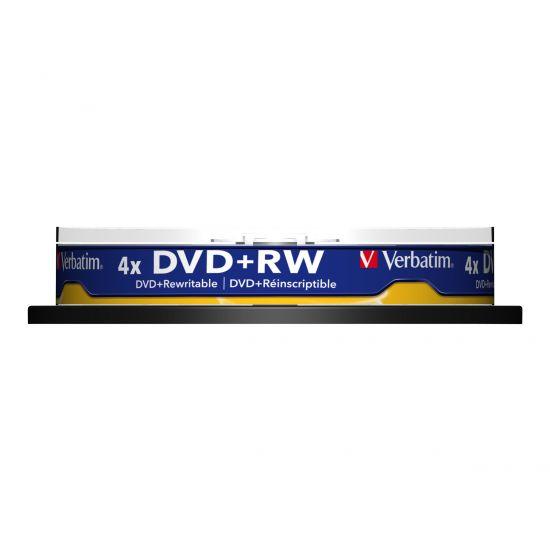 Verbatim - DVD+RW x 10 - 4.7 GB - lagringsmedie