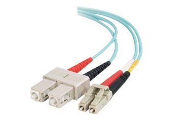 C2G LC-SC 10Gb 50/125 OM3 Duplex Multimode PVC Fiber Optic Cable (LSZH)