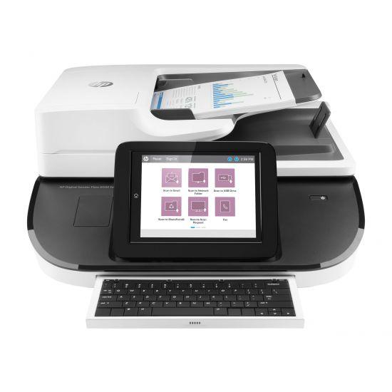HP Digital Sender Flow 8500fn2 - dokumentscanner - desktopmodel - USB 2.0, Gigabit LAN, USB 2.0 (Host)