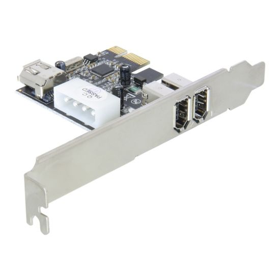 DeLock PCI Express Card FireWire A 2+1 Port - FireWire adapter - 3 porte