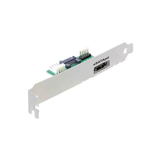 DeLOCK Slotbracket eSATApD - kabelsæt til lagring