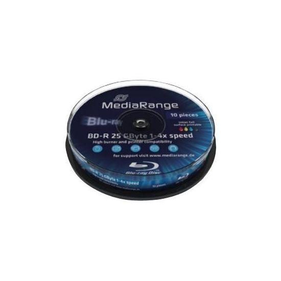 MediaRange Inkjet Fullsurface-Printable - BD-R x 10 - 25 GB - lagringsmedie