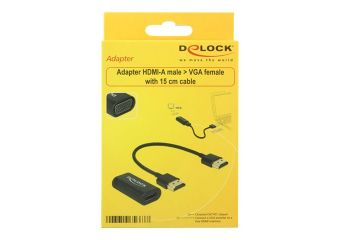 DeLOCK Adapter HDMI-A male > VGA female video transformer