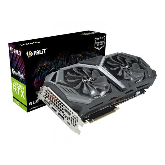 Palit GeForce RTX 2080 GameRock Premium &#45 NVIDIA RTX2080 &#45 8GB GDDR6 - PCI Express 3.0 x16