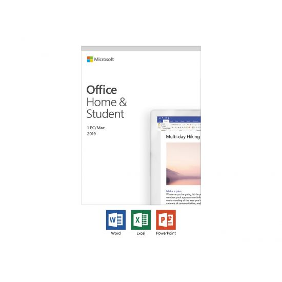 Microsoft Office Home and Student 2019 - Mediefri 1 licens PC Dansk