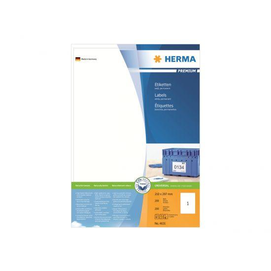 HERMA Premium - laminerede etiketter - 200 etikette(r) - A4