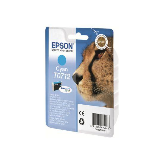 Epson T0712 - cyan - original - blækpatron