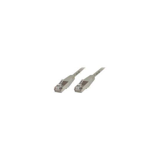 MicroConnect krydskabel - 7 m - grå