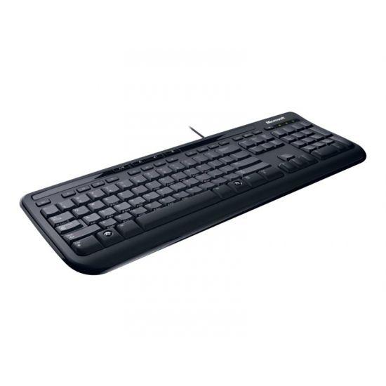 Microsoft Wired Desktop 600 for Business - tastatur og mus-sæt - Dansk/Finsk/Norsk/Svensk